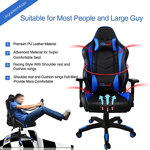 kinsal big and tall gaming chairs for big guys gaming chairz. Black Bedroom Furniture Sets. Home Design Ideas